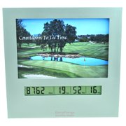 Golf Retirement Countdown Clock with Large Digital Display & Day Timer, Fun Golf Gadgets & Great Gifts for Firemen Police Military Vets