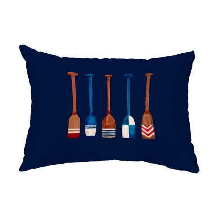 Oar Multi Painted 14x20 inch Navy Nautical Decorative Outdoor - Nautical Outdoor Decor