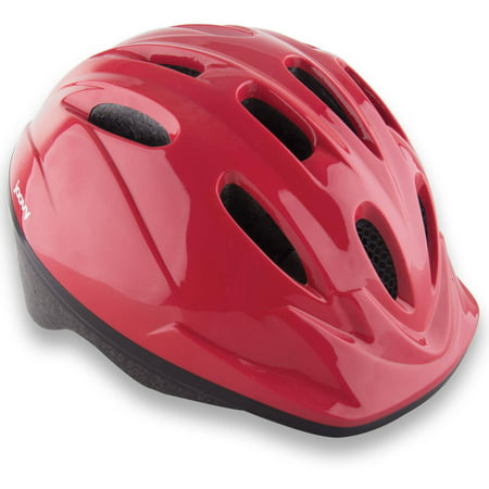 Joovy Noodle Kids Bicycle Helmet with Vented Air Mesh and Visor, Red