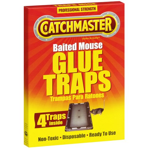Catchmaster Baited Mouse Glue Traps, 4ct