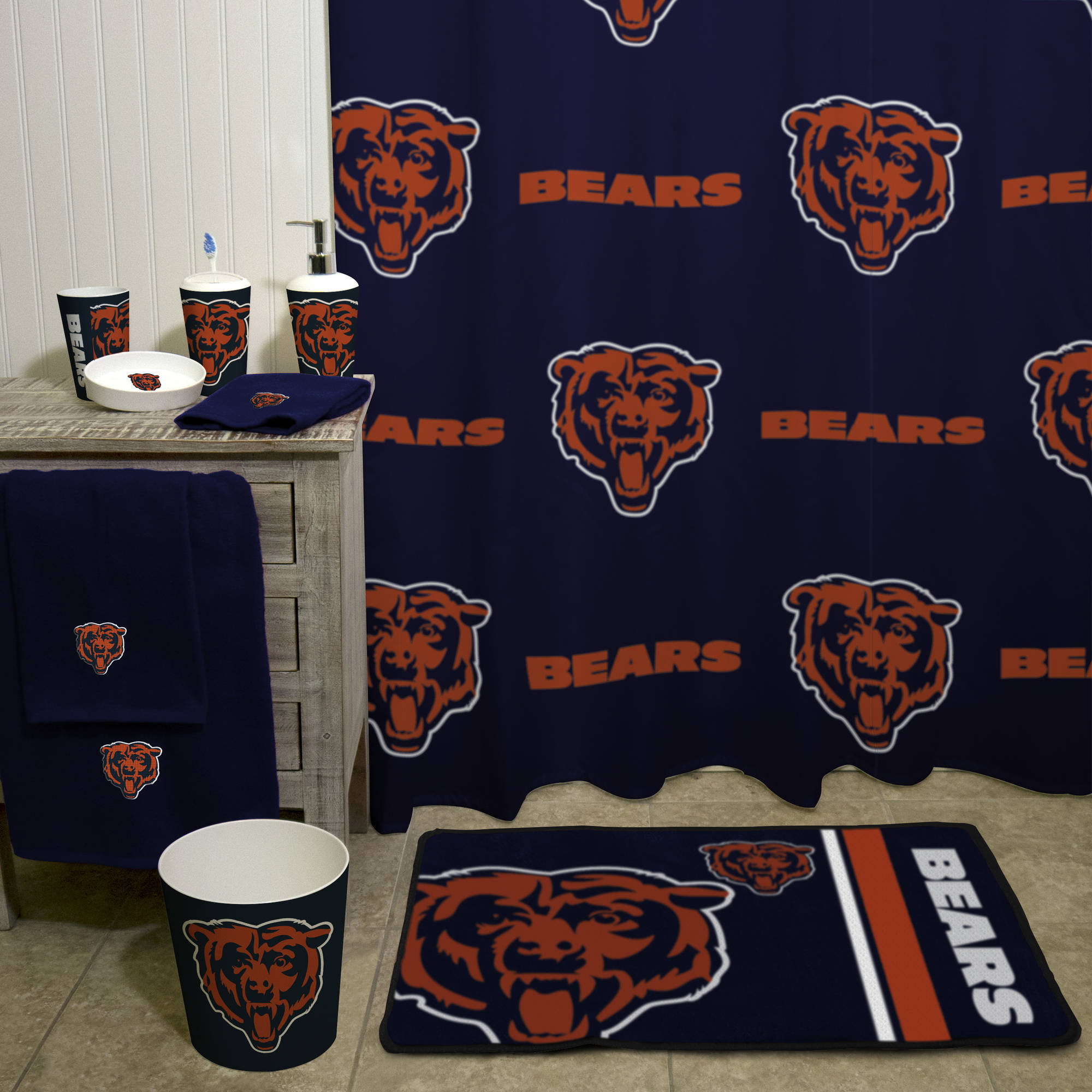 NFL Chicago Bears Decorative Bath Collection Bath Towel   Walmart.com
