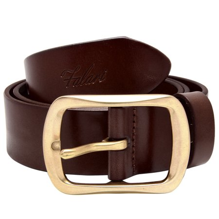 Falari Men's 100% Genuine Leather Belt Stainless 38mm Strap 9002
