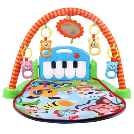 Meigar Baby Gyms and Playmats 3-in-1 Piano Musical Lullaby Baby Activity Gym Toy Play Mat