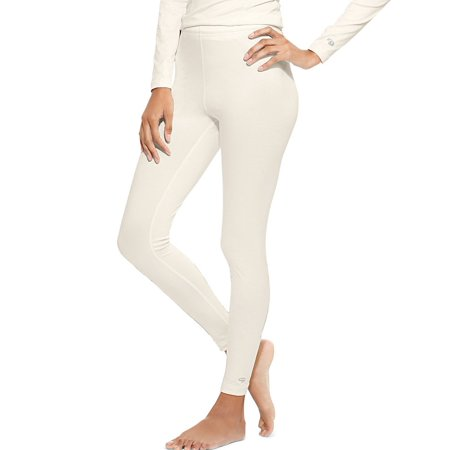 Hanes KMC4 Duofold Varitherm Mid-Weight Womens Base-Layer Thermal Bottoms Size Medium, Pearl - Midweight Bike Tights