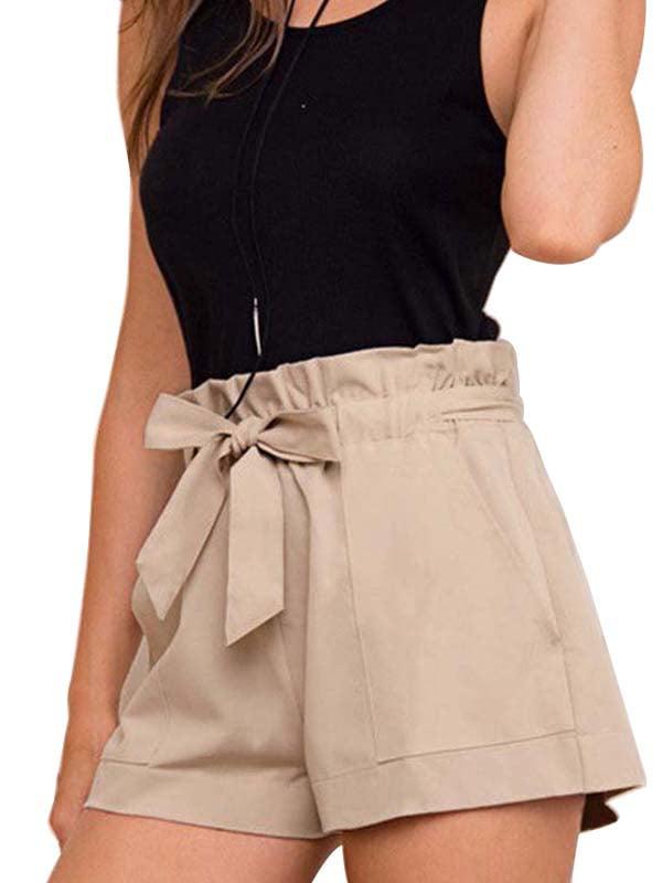 Ropalia Women Cozy Ruffle High Waist Casual Loose Shorts Pants