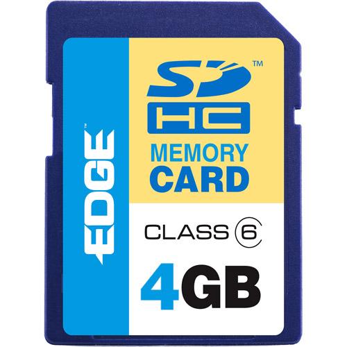 EDGE Tech ProShot 4GB SDHC Class 6 Memory Card