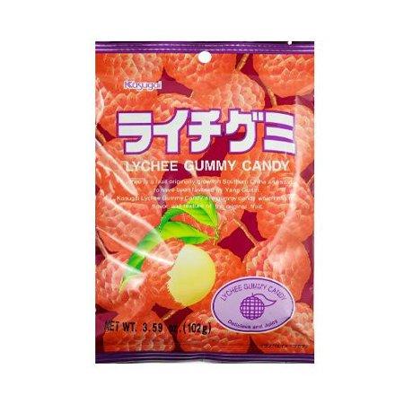 Kasugai: Gummy litchi frais et bonbons juteux, 4,41 oz