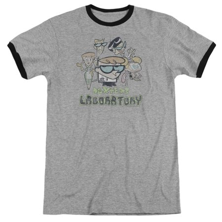 Dexters Laboratory Cast Officially Licensed Adult Ringer T Shirt ()