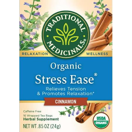 Traditional Medicinals Organic Stress Ease Cinnamon Tea - .85oz