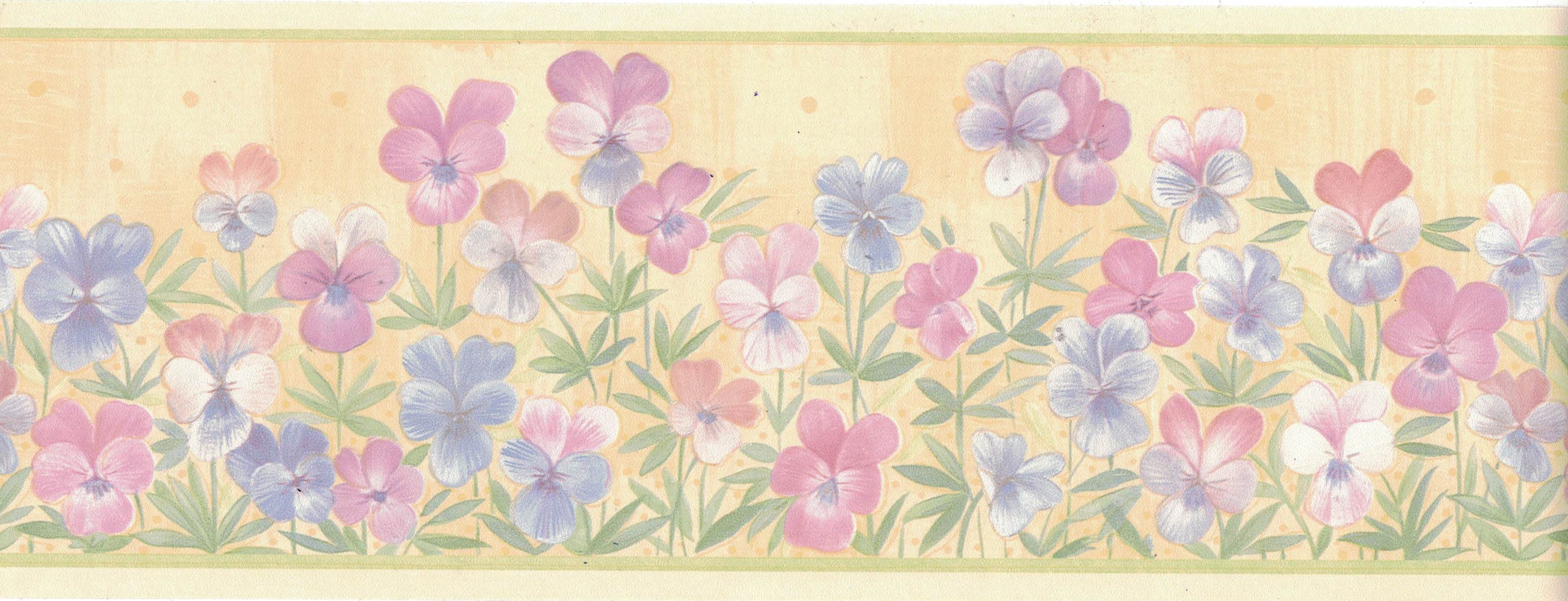 Wallpaper Border Flowers Floral New Arrival 10 1 2 Inches Wide