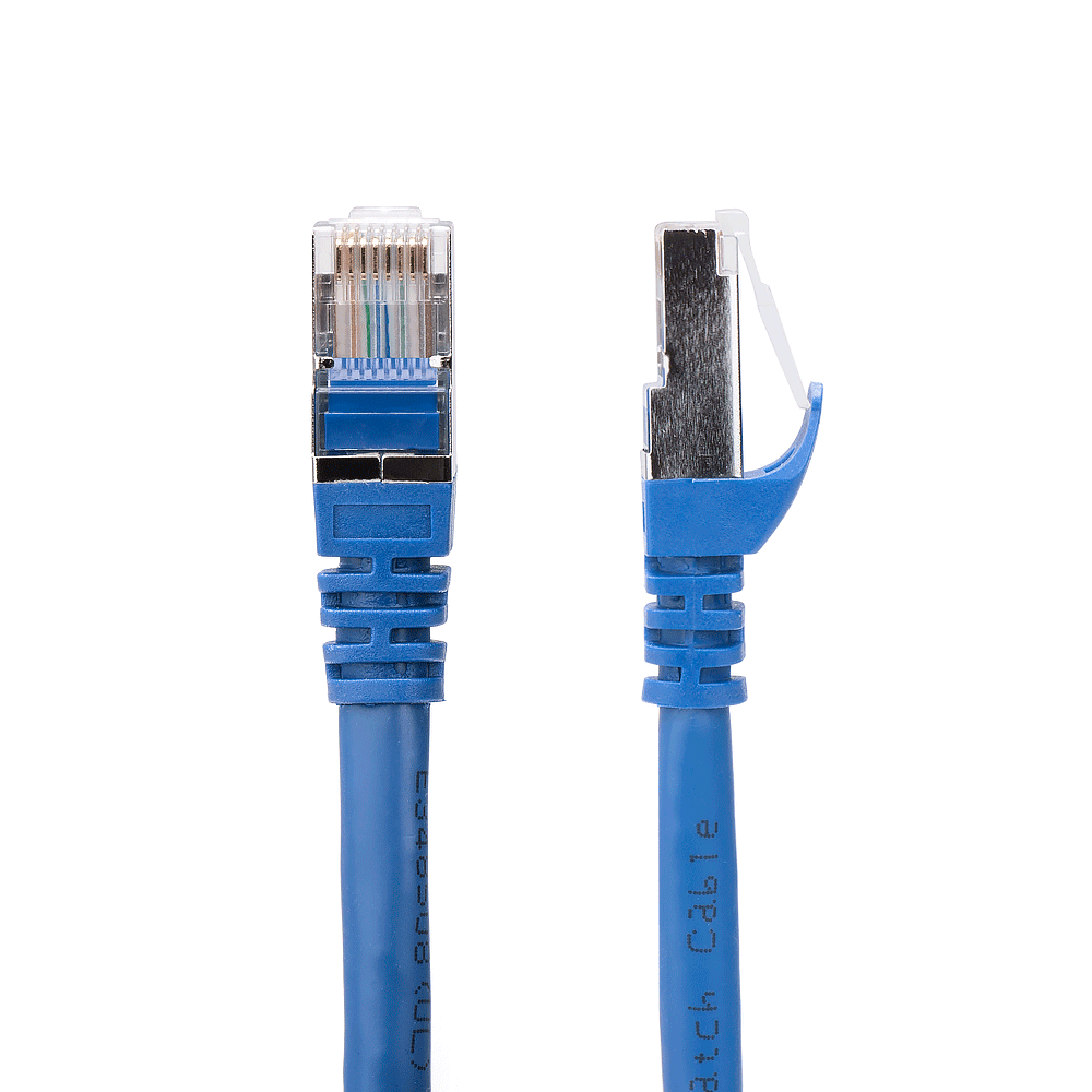 Blue 35ft Cat6a SSTP 10GB Molded Patch Cable