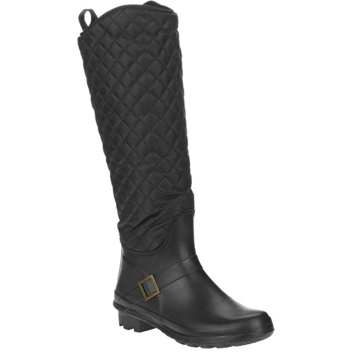 Women's Quilted Rain Riding Boots