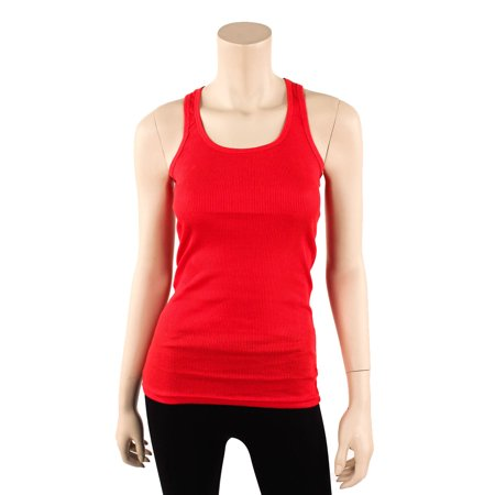 Sofra Womens Tank Top Cotton Ribbed