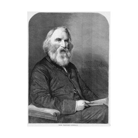 Magazine Illustration (Henry Wadsworth Longfellow Magazine Illustration Published in Harper's Weekly Print Wall Art )