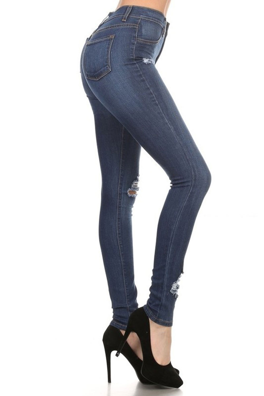 Encore Encore Women S Plus Size High Rise Distressed Skinny Jeans E1749 Walmart Com Walmart Com