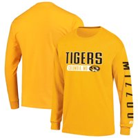 Men's Russell Athletic Gold Missouri Tigers Hit Long Sleeve T-Shirt