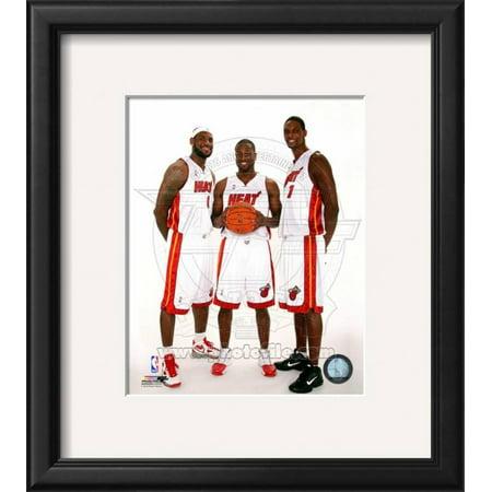 Dwyane Wade, LeBron James, &Chris Bosh 2010 Posed Framed Photographic Print Wall
