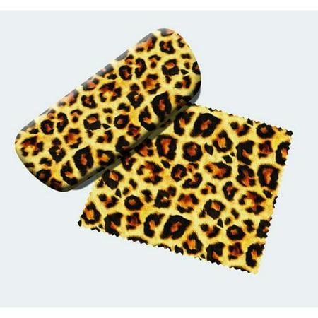leopard print eyeglass case and cleaner. Black Bedroom Furniture Sets. Home Design Ideas