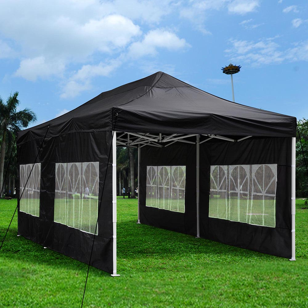 Yescom 10u0027x20u0027 Easy Pop Up Canopy Folding Gazebo Wedding Party Tent with Removable & Party Tents