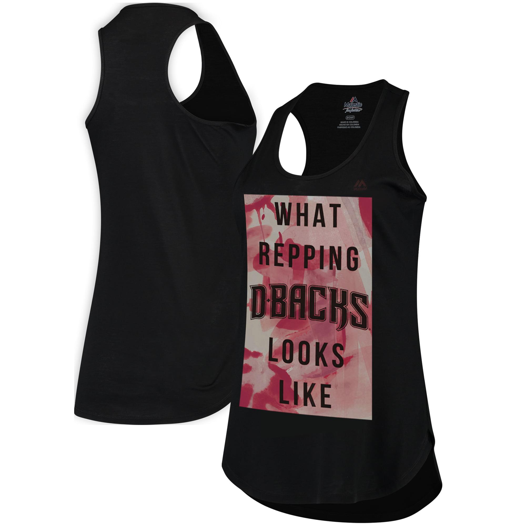 Arizona Diamondbacks Majestic Women's All Day Long Tank Top - Black