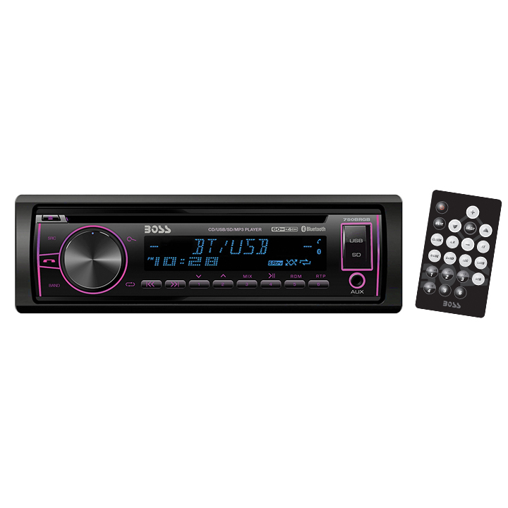 Boss Audio 750brgb Single-din In-dash Cd Am/fm/mp3 Receiver With Bluetooth