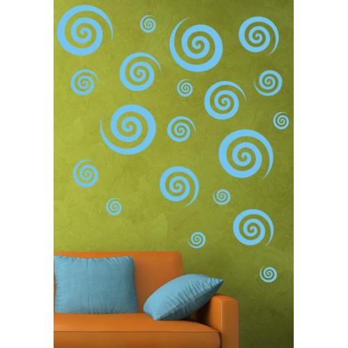Alphabet Garden Designs Swirly Swirls Set Wall Decal (Set of 30)