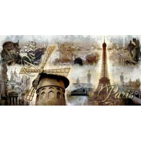 Collage Paris 03 Poster Print by Paul Robert