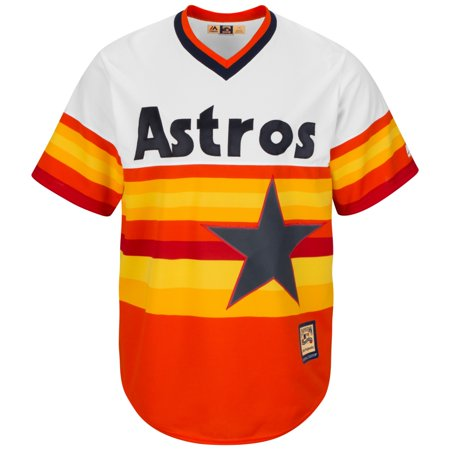 Nolan Ryan Houston Astros Cooperstown Cool Base Replica Rainbow Jersey by