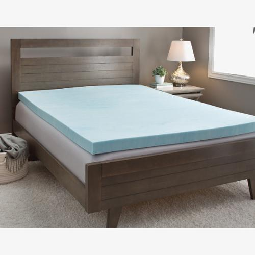 Slumber Solutions Gel 4-inch Memory Foam Mattress Topper with Cover Queen