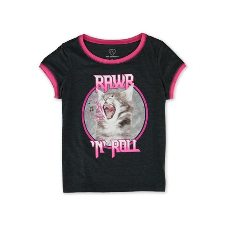 Aeropostale Girls Rawr N' Roll Graphic T-Shirt 001 5 - Little Kids (4-7) - image 1 de 1