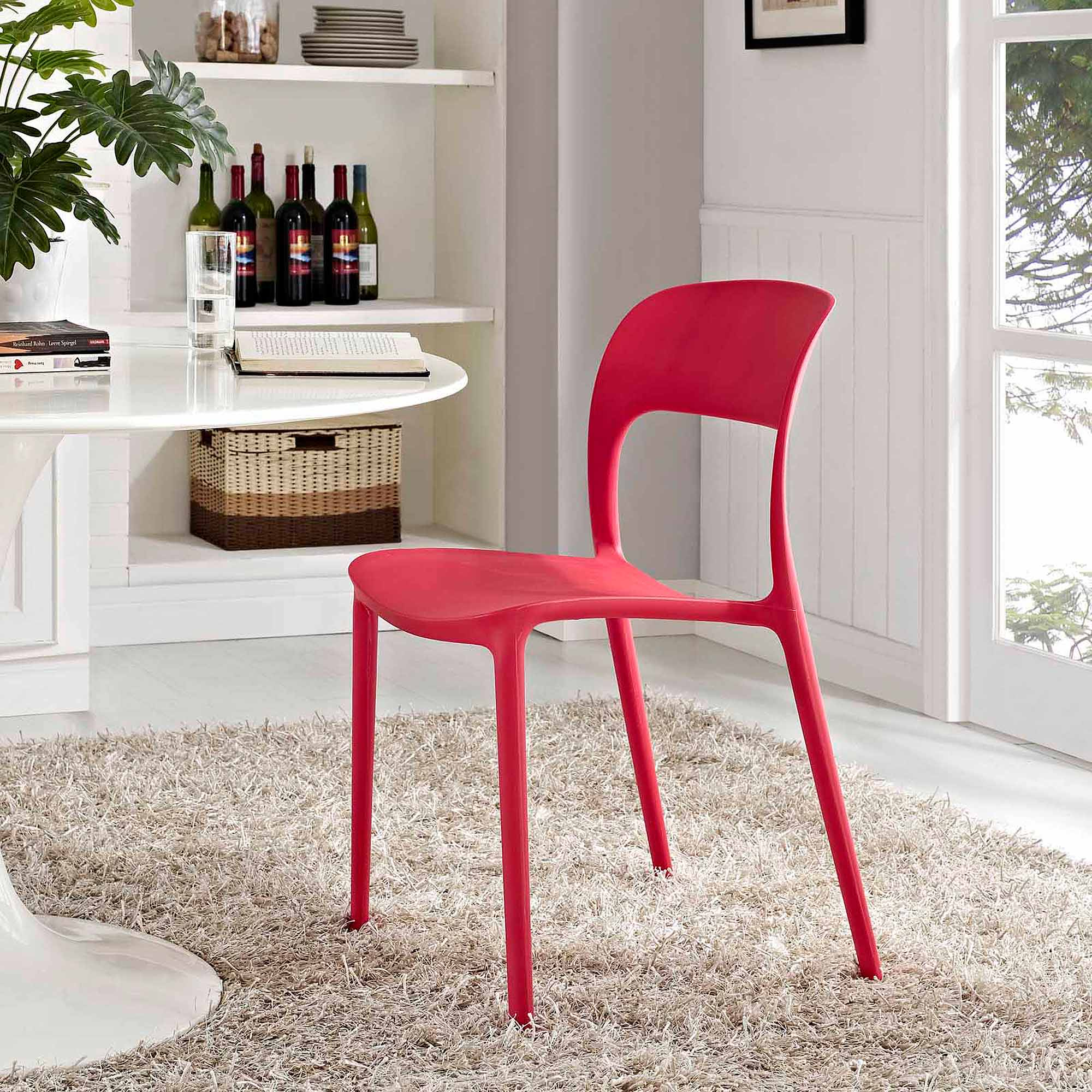 Modway Hop Dining Chair for Indoor or Outdoor Use, Multiple Colors