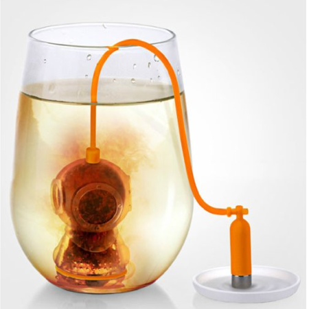 Deep Tea Diver Infuser Fred & Friends Silicone Strainer Loose Leaf Steeper Sea for $<!---->