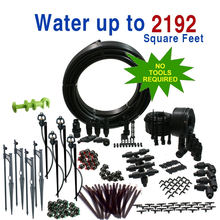 Premium Drip Irrigation and Microsprinkler Kit for Landsc...