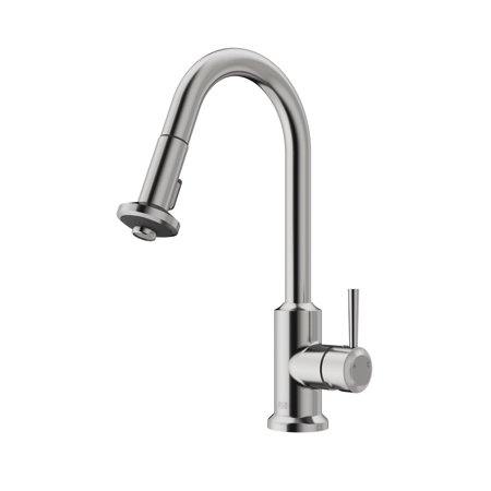 Vigo Pull-Out Spray Kitchen Faucet, Stainless Steel