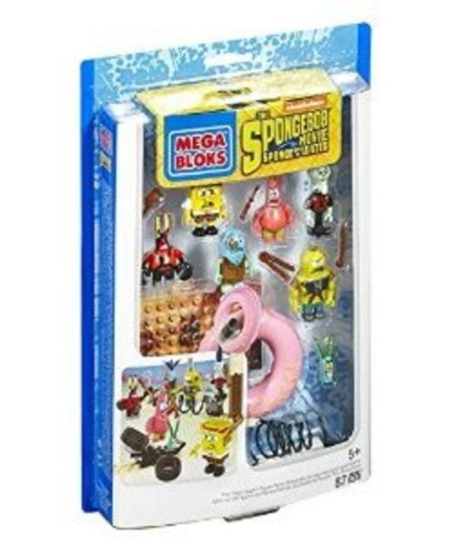Mega Bloks SpongeBob SquarePants Post-Apocalypse Figure Pack Multi-Colored by Mega Bloks