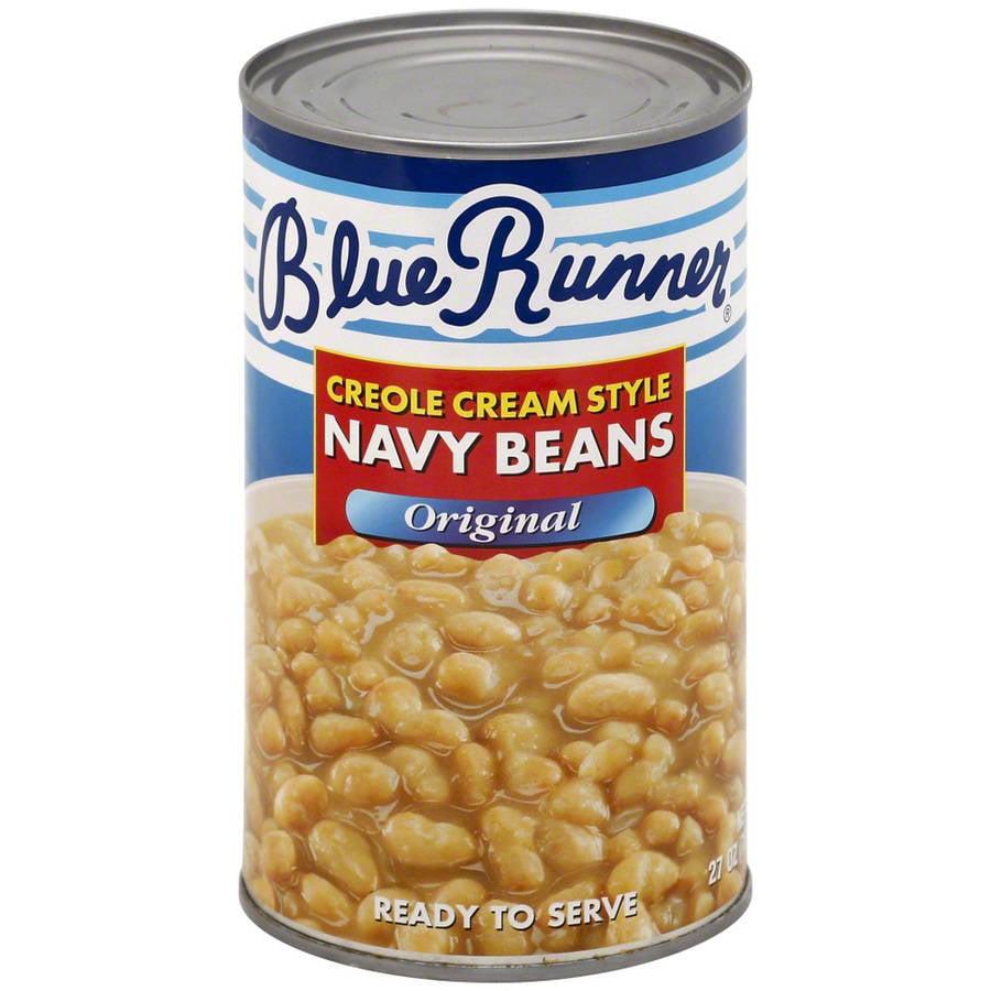 Blue Runner Original Creole Cream Style Navy Beans, 27 oz, (Pack of 12)