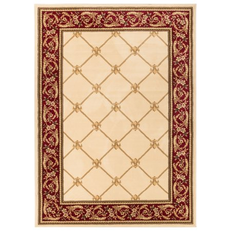 Well Woven Well Woven Vanguard Fleur De Lis Trellis Lattice French European Classic Traditional Entryway Mat Area Rug  23 X 311