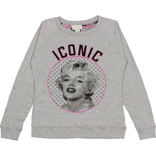 Marilyn Monroe Juniors' Long Sleeve Sweatshirt