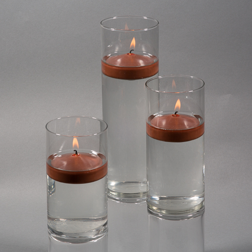 Richland Floating Candles & Eastland Cylinder Holders White Set of 36