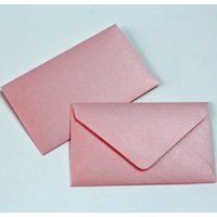 """Wedding Favor Envelopes Mini Envelopes for $1 State Lottery Tickets Gift Cards - Qty 50 - Metallic Blush Baby Pink - 2.5"""" x 4.25"""""""