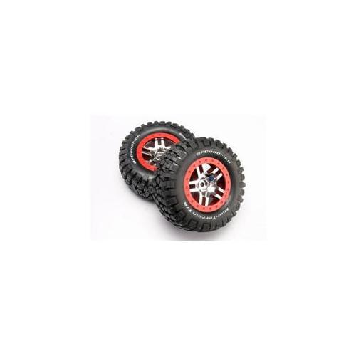 Traxxas TRA6873A Chrome Wheels-Mud Terrain Tires Assembled Slash 4x4