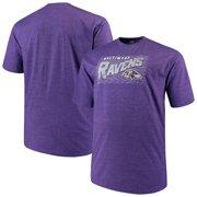 Men's Majestic Purple Baltimore Ravens Big & Tall Royal Domination Malt T-Shirt