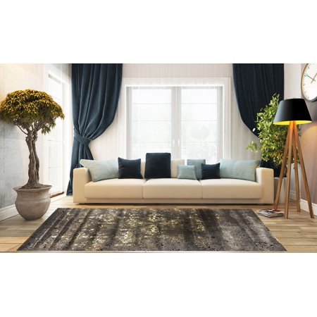 Contemporary Mercury Collection Area Rug By Benissimo Silky Touch