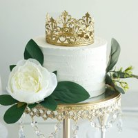 Efavormart Gold Metal Princess Crown Cake Topper Birthday Cake Wedding Decoration For Wedding Birthday Party Special Event