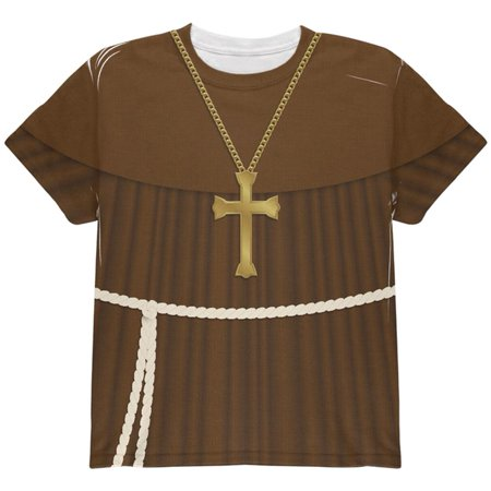 Halloween Edwardian Monk Costume All Over Youth T Shirt - Edwardian Halloween