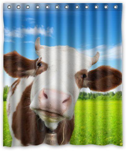 Milk Brown Waterproof Bathroom Polyester Shower Curtain Liner Water Resistant
