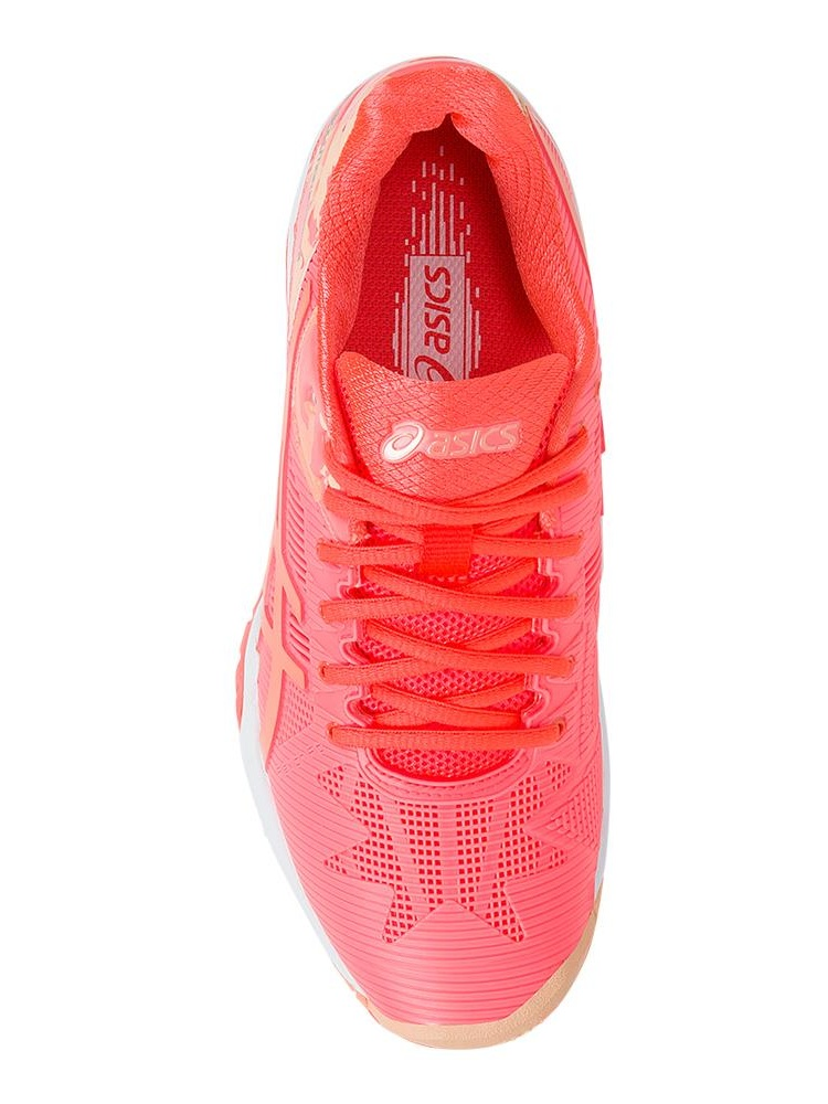 Women`s Gel-Solution Shoes Speed 3 LE Tennis Shoes Gel-Solution Flash Coral and Cateloupe 87409e