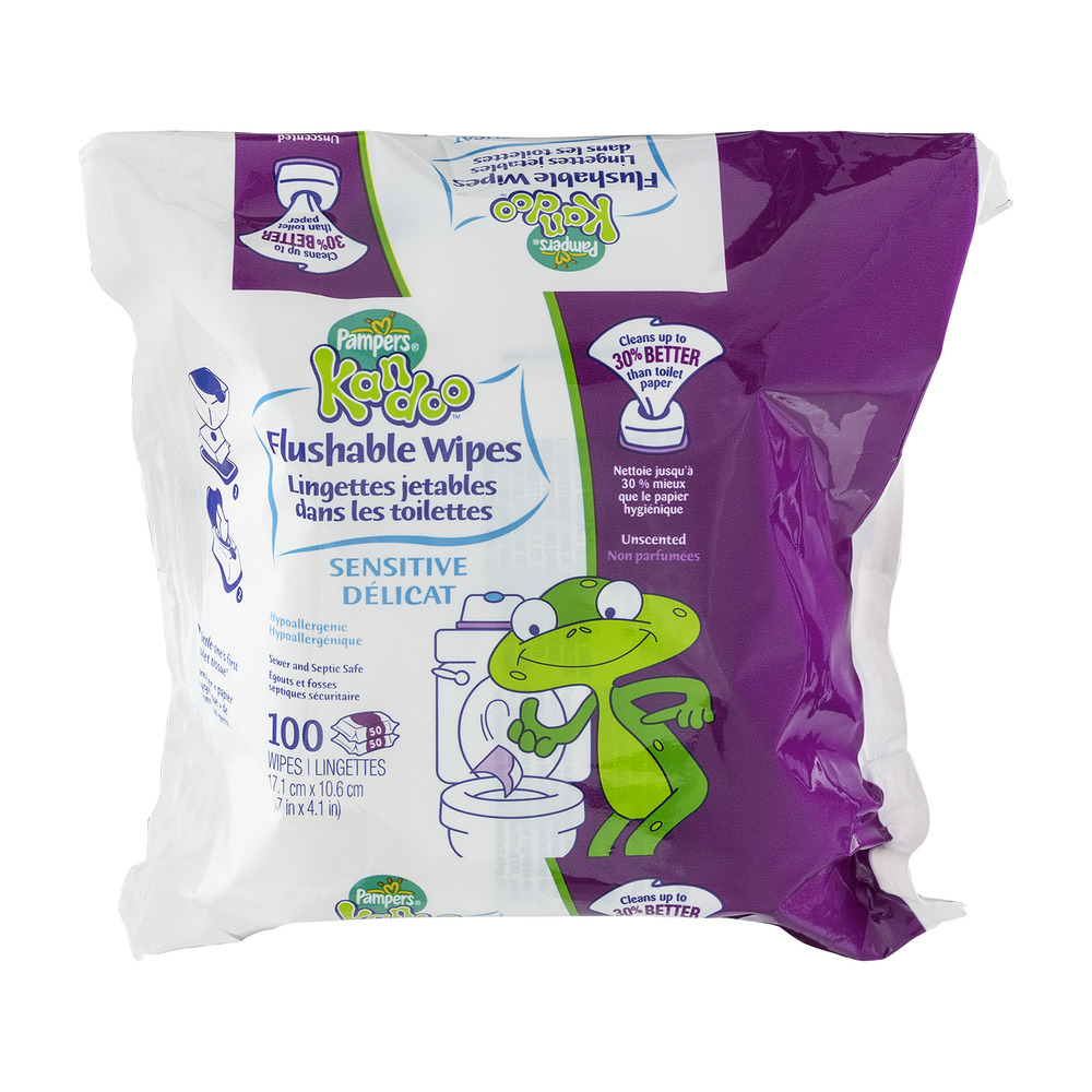 Pampers Kandoo Flushable Wipes - 100 CT