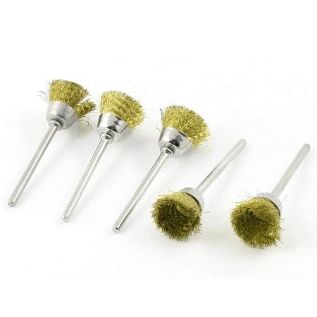 5 Pcs Bowl Design Steel Wire Metal Shank Polishing Brush 52mm Length - image 1 of 1