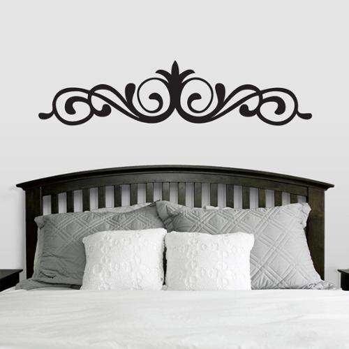 Sweetums Elegant Accent Scroll Wall Decal (66-inch x 15-inch)